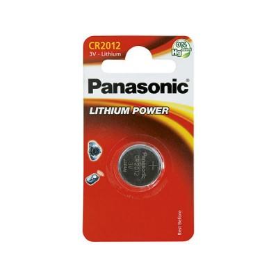 Pile bouton lithium blister CR2012 PANASONIC 3V 55mAh