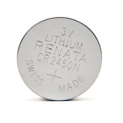 Pile bouton lithium blister CR2450N RENATA 3V 540mAh
