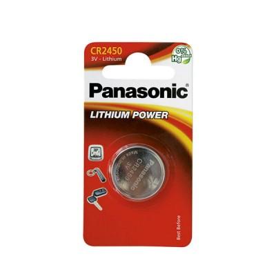 Pile bouton lithium blister CR2450 PANASONIC 3V 620mAh