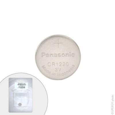 Pile bouton lithium blister CR1220/BN PANASONIC 3V 35mAh
