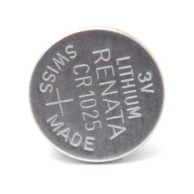 Pile bouton lithium blister CR1025 RENATA 3V 30mAh