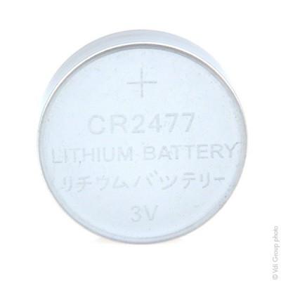 Pile bouton lithium blister CR2477 3V 1Ah