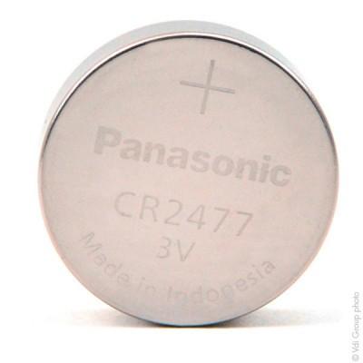 Pile bouton lithium blister CR2477/BN PANASONIC 3V 1Ah