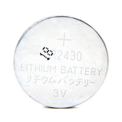 Pile bouton lithium CR2430 3V 280mAh