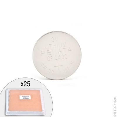 Pile bouton lithium CR2430 RENATA 3V 285mAh