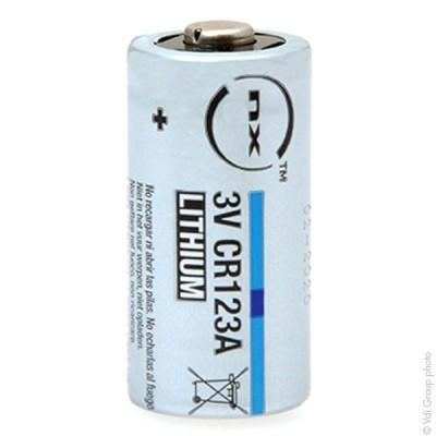Pile lithium blister x1 CR123 3V 1.3Ah