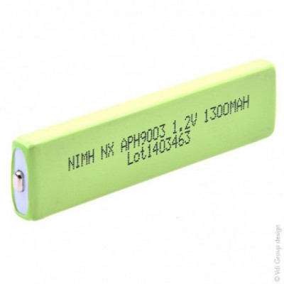 Accus Nimh industriels HF-1AU prismatique 1.2V 1.3Ah FT