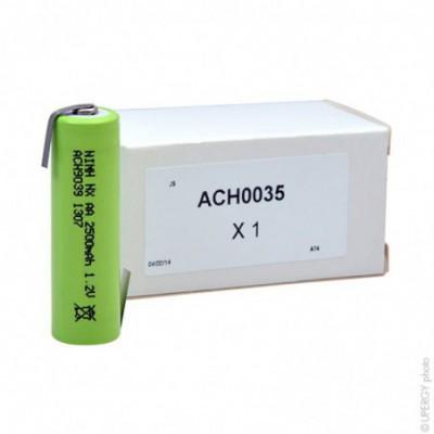 Accus Nimh industriels AA NX 1.2V 2500mAh HBL