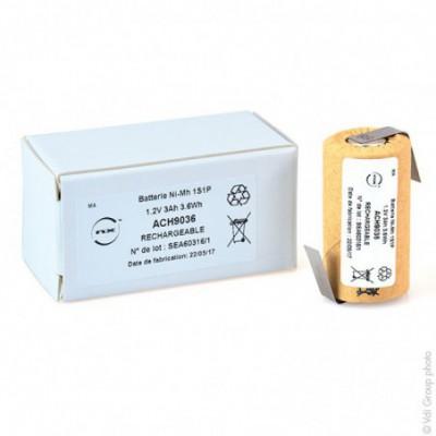 Accus Nimh industriels SC HD CARTONNE 1.2V 3000mAh HBL