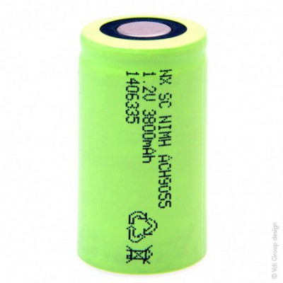 Accus Nimh industriels SC 1.2V 3800mAh FT
