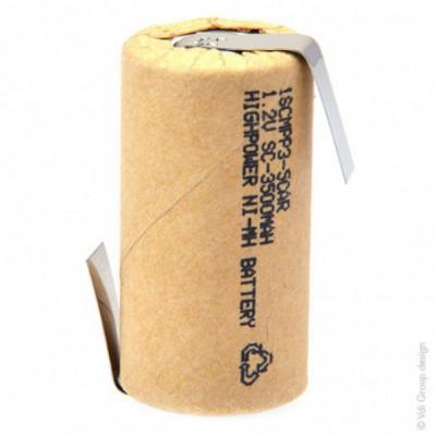 Accus Nimh industriels SC 1SCM3-0 Cartonné 1.2V 3000mAh HBL